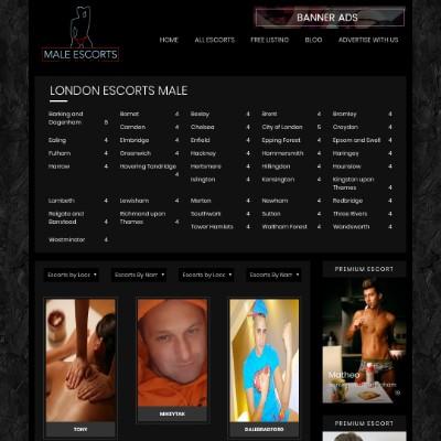 Male Escorts London Directory