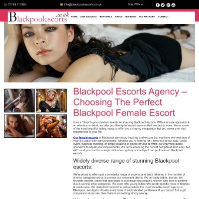 Blackpool Escorts Agency - Book Escorts Services in Blackpool