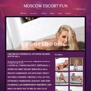 Escort Moscow Girlfriend experience - Stunning blonde Mila